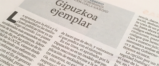 Artículo de opinión. El Diario Vasco. 2016-03-13
